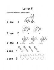 English Worksheets: Letter F