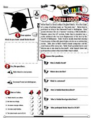 English Worksheets: RC Series_British Edition_06 Robin Hood (Fully Editable + Key)