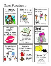 English Worksheets: What Good Readers Do