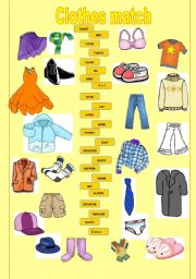 English Worksheet: Match the clothes
