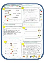 English Worksheet: Food (Singular or Plural) it/they; is/are; some/any