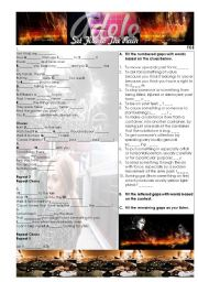 English Worksheet: Set Fire to the Rain - Adele song worksheet