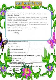 English Worksheet: elementary quick review : short letter reading instructions + a/an , possessives +present simple