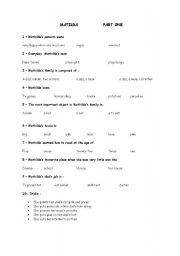 matilda test questions