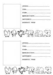 Printables Elementary Science Worksheets english teaching worksheets science animals record