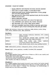English Worksheet: housing - place of living
