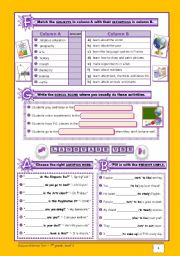 English Worksheet: School Test - version B (7th grade) - part 2+ CORRECTION