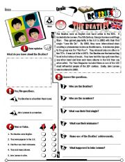 English Worksheets: RC Series_British Edition_08 The Beatles