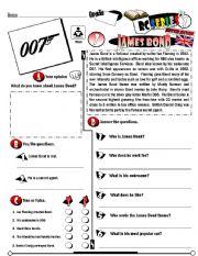English Worksheet: RC Series_British Edition_07 James Bond (Fully Editable + Key)