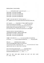English Worksheets: Adele Chasing Pavements Song Worksheet