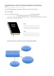 English Worksheets: Christian viewpoints