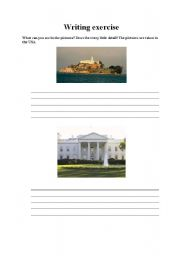 English Worksheets: Writing exercise about pictures