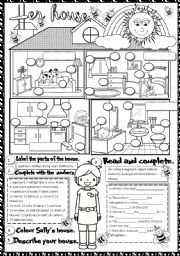 The House Worksheets Safety Activities English Worksheet House