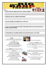 English Worksheet: The Big Bang Theory + Song