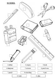 english worksheets classroom objects