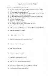 English Worksheets: 50 Questions on In the Midst of Hardship