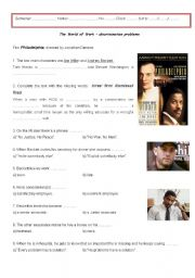 Worksheet on the film Philadelphia