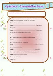 English Worksheets: questions /interrogative forms