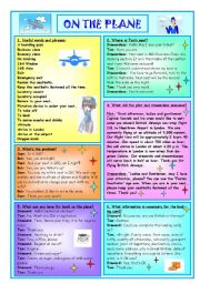 English Worksheets: On The Plane