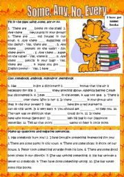 English Worksheet: Some, Any, No, Every