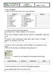 English Worksheets: holdaying