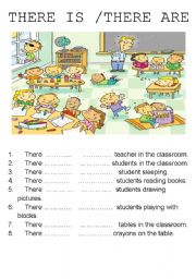 English Worksheets: There is There are
