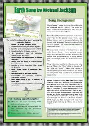 English Worksheet: ENVIRONMENTAL ISSUES & PRESENT PERFECT & SIMPLE PAST PRACTICE THROUGH SONG WORKSHEET. NOTES FOR TEACHERS INCLUDED