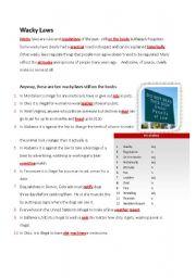 English Worksheets: Wacky Laws