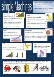 English Worksheet: Simple Machines