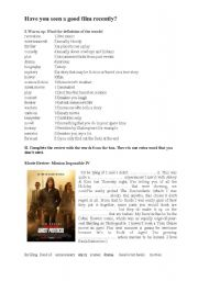 English Worksheets: Have you seen a good movie recently