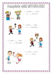 English Worksheets: let�s practice greetings