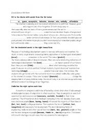 English Worksheet: revision 4th form