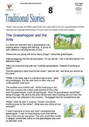 tradidional stories :the grasshopper and the ant