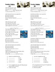 English Worksheet: paradise by Coldplay