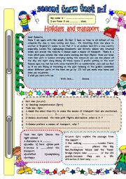 English Worksheets: Holidays and transport