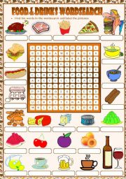Food & Drinks Wordsearch