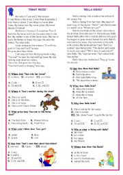 English Worksheets: Reading Text with Comprehension Questions *2*