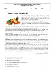 an essay on vegeterianism Catchy titles for a an essay on the advantages on being a vegetarian.