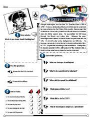 English Worksheet: RC Series_U.S Edition_06 Georges Washington  (Fully Editable + Key)