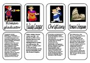 English Worksheet: Ancient Rome speaking cards 3 (3 January 2012)