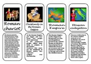 English Worksheet: Ancient Rome speaking cards 2 (3 January 2012)