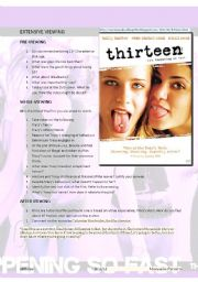English Worksheets: THE WORLD OF TEENS - TEENS� PROBLEMS : 13 VIDEO WS+ KEY