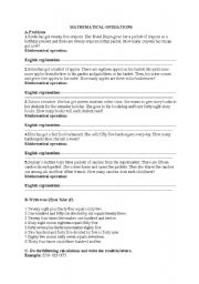 English Worksheets: Mathematical Operations-Spot on 6