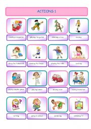 English Worksheets: Actions 1 (Pictionary)