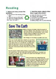 Recycle! Save the earth!
