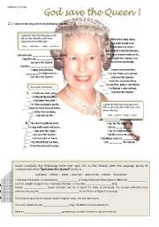 English Worksheets: God save the Queen ! ( 3/6 )
