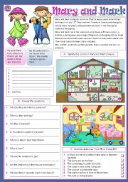 English Worksheet: Mary and Mark