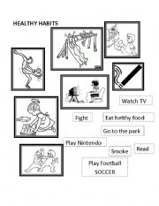 Printables Healthy Habits Worksheets healthy habits worksheet by mery lu english habits