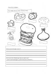 english teaching worksheets hamburgers. Black Bedroom Furniture Sets. Home Design Ideas