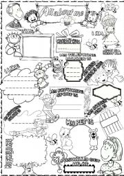 English Worksheets: all about me